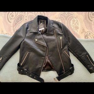 Topshop Leather Biker Jacket- BRAND NEW